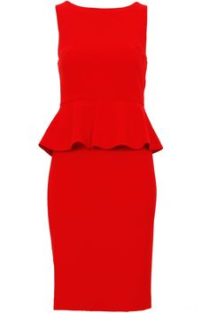 Boutique Homes, Red Wedding Dresses, Alice Olivia, Dress Outfits, Peplum Dress, Red Beach, How To Wear, Clothes, Fashion
