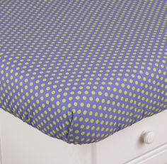 Periwinkle Fitted Crib Sheet