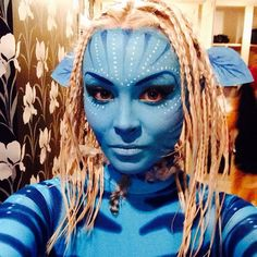 Avatar Fancy dress Halloween Makeup Looks, Halloween Make Up, Halloween Ideas, Avatar Fancy Dress, Cosplay Ideas, Costume Ideas, Avatar Halloween Costume, Make Avatar, Costumes For Work