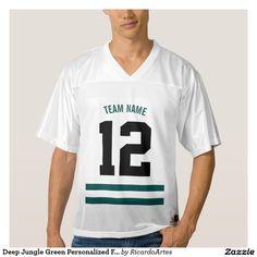Deep Jungle Green Personalized Football Team