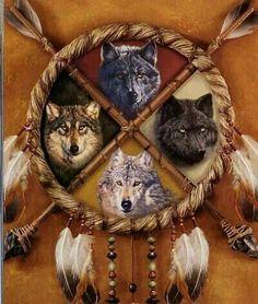 Atrapasueños lobos