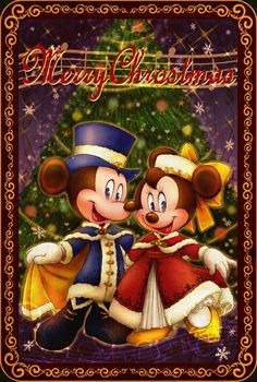 Merry Christmas to all ❤Mickey and Minnie Mouse❤                                                                                                                                                                                 More