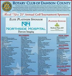 Thanks to all who our golf tournament this year. We raised more than $30,000 that will be reinvested into our wonderful community.