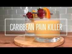 There's nothing better, on a hot day, than whipping up a quick and delicious cocktail. Try our Caribbean painkiller recipe out for size! Fruity Drinks, Fun Drinks, Alcoholic Drinks, Beverages, Painkiller Recipe, Painkiller Cocktail, Summertime Drinks, Summer Drinks, Sour Cocktail