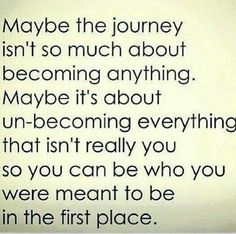 Maybe the journey....so true...    Rickster