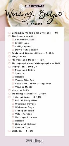 Wedding budget checklist planning a wedding checklist timeline Planning A Small Wedding, Plan Your Wedding, Wedding Ideas, Dream Wedding, Wedding Dj, Wedding Pics, Low Cost Wedding, Bridal Stores, Save The Date Invitations