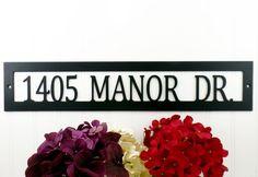 Custom Outdoor Metal Address Sign  Black by RefinedInspirations
