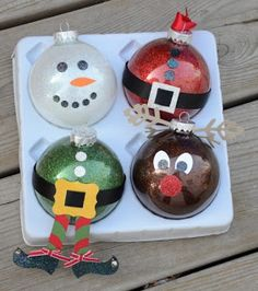 Christmas Clear Ornament Ideas - Young & Lively Kindergarten