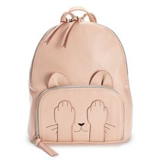 d2c2bf2c0808 T-Shirt & Jeans Hiding Cat Backpack, Light Pink Jean Backpack, Backpack Bags