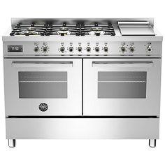 Buy Bertazzoni Professional Series 120cm Dual Fuel Twin Range Cooker Online at johnlewis.com