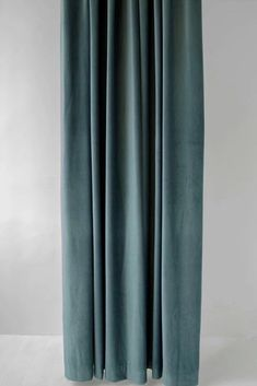 Sea Green Luxury Matt Velvet Curtains / Custom Made Curtain Panels / Rod Pocket Panels - 1 - Curtain Velvet Curtains Bedroom, Velvet Drapes, Luxury Curtains, Boho Curtains, Rod Pocket Curtains, Panel Curtains, Curtain Panels, Curtain Fabric, Blue And Green Curtains