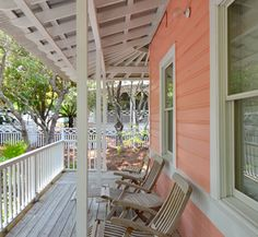 Porch of Persimmon, our first Seaside cottage | Seaside, Florida