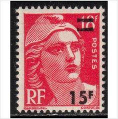 France YT 827, 1949 Marianne de Gandon 5f on 6f MNH** stamps sur le France de eBid…ღ…reépinglé par Maurie Daboux….ღ.