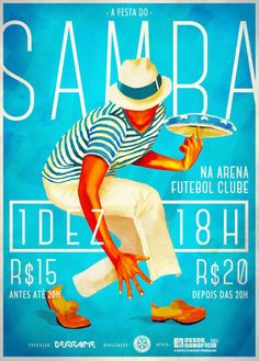 Samba - Brazilian dance and musical genre originating in Bahia, Brazil, and brought in by African slaves