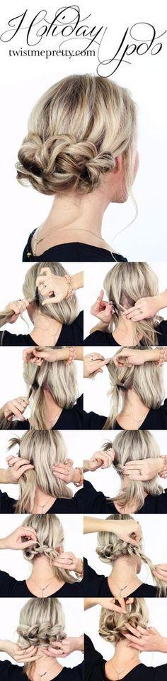 Fotos de moda | Paso a paso con video bellísimo peinado para fiestas | http://soymoda.net