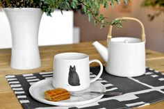 Kitchenware, Tableware, Cat Art, Bowls, Coffee Mugs, Arts And Crafts, Ceramics, Paint, Dishes
