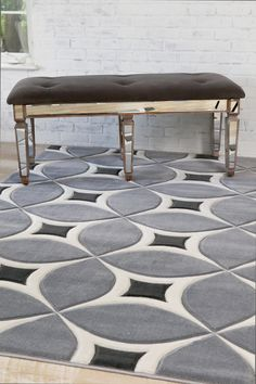Gray Silver Modern Rug kaleidoscope Contemporary Clearance Area Rugs - Bargain…
