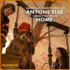A cherry tree wall mural takes centre stage in the home of the Browns, who take in Paddington Bear. Oso Paddington, Spectacled Bear, Tree Wall Murals, The Danish Girl, Bear Party, Movie Lines, 2 Movie, Family Movies, Magical Creatures