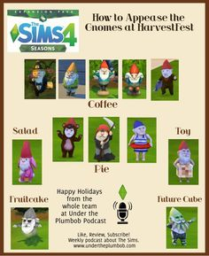 The Sims 4 Quick Guide to Gnomes Sims 4 Cheats Codes, Sims Cheats, Sims 4 House Plans, Sims 4 House Building, The Sims 4 Pc, Sims Four, Sims Cc, Sims Challenge, Sims 4 Seasons