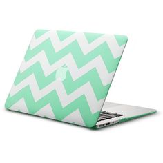 Kuzy AIR 13-inch Chevron Mint GREEN Rubberized Hard Case for MacBook... (€21) ❤ liked on Polyvore featuring accessories, tech accessories, electronics, laptops, items and other