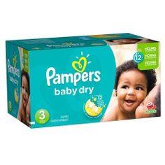 Pack d'une quantité de 416 Couches Pampers Baby Dry de taille 3 sur 123 Couches