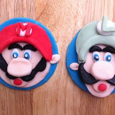 Super Mario cupcake toppers- By Daniellerosemakes