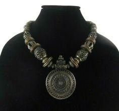 Minor Wear On Close Inspection. Tribal Fashion, Boho Fashion, Fashion Jewelry, Southwestern Jewelry, Unusual Jewelry, Denim And Lace, Ring Earrings, Hippie Boho, Beaded Necklace