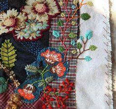 Embroidery scraps