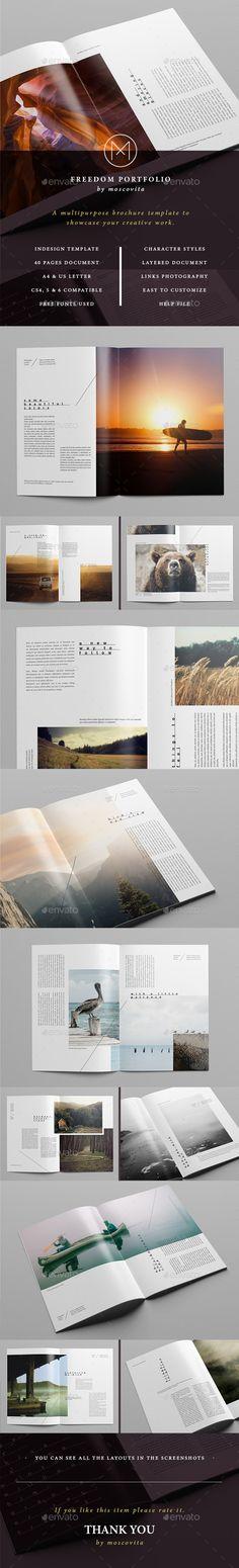 Freedom Portfolio #catalog #clean • Click here to download ! http://graphicriver.net/item/freedom-portfolio/12993880?s_rank=229&ref=pxcr