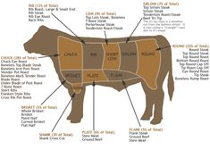 Primal Cuts of Beef cuts Primal Cuts Of Beef – Where Your Cuts Actually Come From Ribeye Roast, Porterhouse Steak, Top Sirloin Steak, Flank Steak, Beef Back Ribs, Beef Ribs, Beef Nutrition, Steak Cuts, Cuts Of Beef