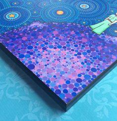 Colores impresión laminada en madera el cósmico por ElspethMcLean