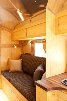 Remodeled Airstream Interiors | Runaround Sue: Vintage Airstream Restoration Project | New Prairie ...