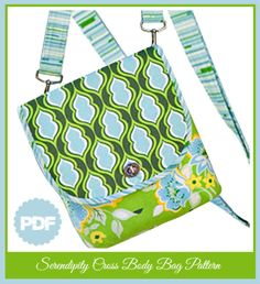 Cross The Body Bag PDF Sewing Pattern