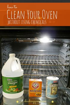 As a breast cancer survivor and mom of 2 kids, I try to be careful about using too many chemicals. I want to make sure the house is clean, but prefer to clean using natural, organic, and non-toxic ingredients. Here's an easy way to clean your oven without chemicals. #chachingqueen #greencleaning #chemicalfree #cleaning #cleaningtips