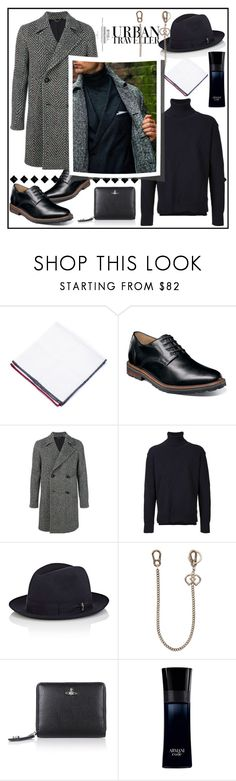 """""""URBAN TRAVELLER!!!"""" by kskafida ❤ liked on Polyvore featuring Brunello Cucinelli, Florsheim, DoppiaA, Education From Youngmachines, Borsalino, Dsquared2, Vivienne Westwood, Giorgio Armani, men's fashion and menswear"""