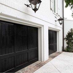 Black Garage Doors Color Ideas Solutions Design House