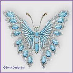 Butterfly 12, machine embroidery design from Zundt Design, Ltd., swiss embroidery