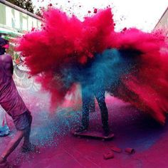 festival of colors. Holi, India Celebrate with colours! #WOWstyle