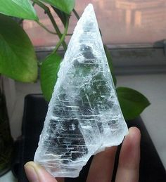190g-3cm-thick-Transparent-Ice-Clear-Selenite-Slab-display-Specimen-China-687