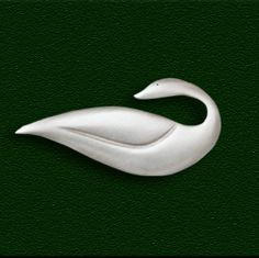 Nestling Goose Pin by Lovell Designs. American Made. See the designer's work at the 2015 American Made Show, Washington DC. January 16-19, 2015. americanmadeshow.com #pin, #jewelry, #americanmade, #bird, #goose