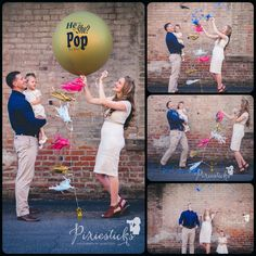 Create an exciting and memorable POP at your gender reveal party! Our printed 36 inch gold balloon filled with confetti will make your babys gender announcement something to remember! Package Includes: - One 36 inch printed, He or She Pop to See GOLD balloon (deflated) - Pre-filled with pink OR blue confetti - Bright pink, Mint and Gold tassels - Pin for popping balloon - We ship domestic priority mail and will arrive in 1-3 business days! Special Instructions: - Balloon can only be filled…