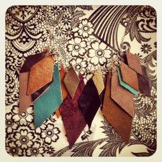 DIY leather cutout necklace tutorial from @newdressaday #newdressaday #DIY #fallfashion