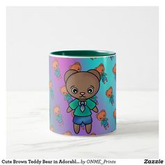 Shop Cute Brown Teddy Bear in Adorable Jean Trousers Two-Tone Coffee Mug created by ONME_Prints. Brown Teddy Bear, Cute Teddy Bears, Tea Mugs, Coffee Mugs, Make You Smile, Photo Mugs, Special Gifts, Create Your Own, Cups
