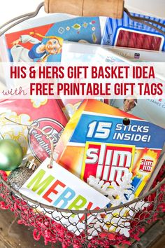 Movie Night Gift Basket Ideas for your friends and family! This is an easy and fun gift idea to give out this Holiday Season! | Gift Baskets for Couples Dyi Gift Baskets, Family Gift Baskets, Christmas Gift Baskets, Diy Christmas Gifts, Basket Gift, Christmas Ideas, Popsicle Stick Christmas Crafts, Christmas Crafts For Toddlers, Movie Night Gift Basket