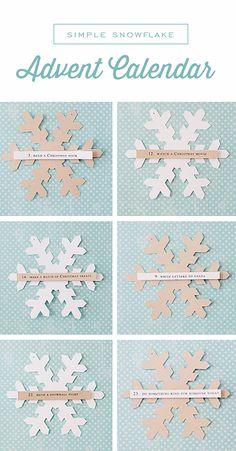 Calendrier de l'avent flocons de neige