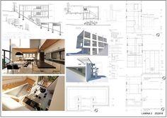 Casas en pendiente: 17 ejemplos de cómo adaptarse a un terreno inclinado - AboutHaus Floor Plans, How To Plan, Minimalist Home, Log Cabin Houses, Home Layouts, Container Houses, House, Floor Plan Drawing, House Floor Plans