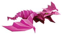 I can imagine these little origami dragons flying around Alex like pets. :)