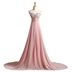 Bruidsmeisjes Jurk Women Beaded Sweetheart Long Chiffon Bridesmaid Dresses Ladies Wedding Party Formal Gowns Robes Demoiselles D'honneur