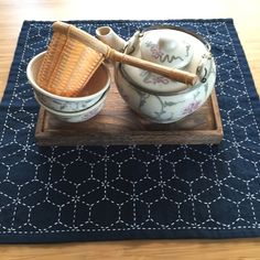 Sashiko (Asian Embroidery) Tea Mat