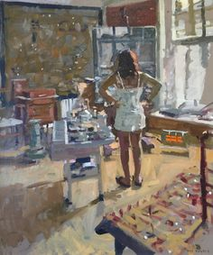 Kenneth Howard OBE RA is an British artist and painter. He was President of the New English Art Club from 1998-2003. Ken Howard was born in London. He studied at the Hornsey College of Art (1949-53) and the Royal College of Art (1955-58). In 1958 he won a British Council Scholarship to Florence. He spent his National Service in the Royal Marines (1953-55).